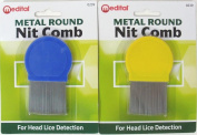 Standard Quality Metal Round Lice Nit Louse Detection Removal Comb Regular Use