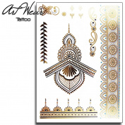 "Temporary Tattoo ""Metallic Gold Tattoo 80cm - ArtWear Tattoo Beauty - BTB0057 M"