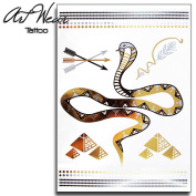 "Temporary Tattoo ""Metallic Gold Snake Tattoo 60cm - ArtWear Tattoo Beauty - BTB0049 M"