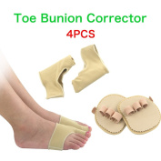HLYOON - Feet Health Orthotic Device Kit Original Gel Pad Bunion Sleeves - 2 Booties for Bunion Relief ,Toe Straightener Prevent Overlapping Toes
