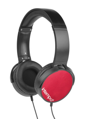 Intempo EE1264 Dynamic Red Over-ear Headphones