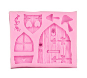 Cake Mould - TOOGOO(R)3D Fairy House Door Silicone Fondant Chocolate Cake Sugarcraft Mould Mould Tool