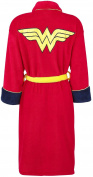 Wonder Woman Adults Groovy Official DC Comics Bathrobe New Fleece Dressing Gown