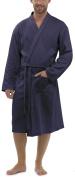 Foxbury Mens Waffle 100% Cotton Lightweight Dressing Gown Robe
