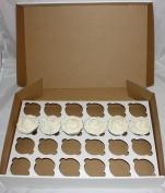 White Cupcake Box holds 24 Cakes