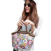 Transer® Waterproof Portable Flower Picnic Lunch Bag Insulated Food Storage Zipper Box Bento Tote