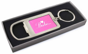 Gorgeous Hot Pink 'Babe' Chrome Metal Bottle Opener Keyring in Box Gift Idea