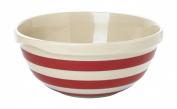 Cornishware Red and White Stripe Stoneware Mixing Bowl 25cm