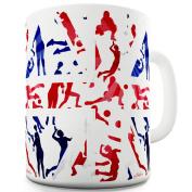 Twisted Envy GB 2016 Volleyball Silhouette Ceramic Tea Mug