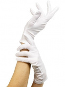Adults Unisex White Magician Clown Captain Short Gloves Fancy Dress