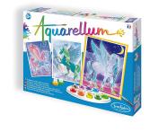 SentoSphere Aquarelle Unicorns Arts and Crafts Watercolour Paint Set