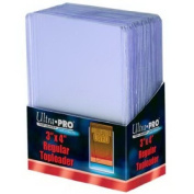 Toploaders - 100 Ultra Pro 3 X 4 Plastic Cases with100 Soft Card Sleeves for Trading Cards by Ultra Pro