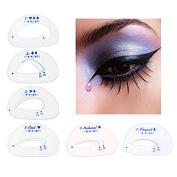 JaneDream 6pcs Cat Eye Stencils Eye Liner Eyeliner Card Makeup Tools Eye Shadow Stencils Tool Eyeshadow Cateye