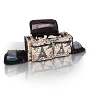 Roo Beauty Bags, Beautcians and Manicurist Makeup Tool Bag, Professional Cosmetics Case in Bellaroo Design - Paris Print