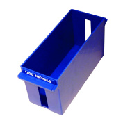 MMF Industries Porta-Count Extra-Capacity Rolled Coin Nickel Storage Tray, 3.75 x 13cm x 27cm , 100 Dollar Capacity, Blue