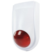 Dummy Fake Alarm Siren Bell Security Box - IP44 Indoor/Outdoor - LED Decoy