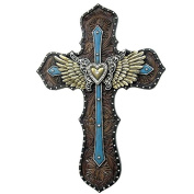 LL Home 12497 Blue Layered Cross Wings