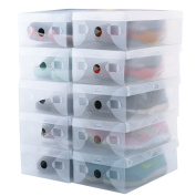 kilofly 15 Smart Storage Containers Foldable Clear Shoe Box Set
