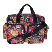 Trend-Lab 104330 Nappy Bag - Bohemian Floral Deluxe Duffle