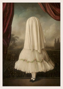 An Invisible Girl Single Postcard by Stephen Mackey