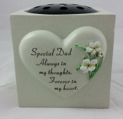 David Fischhoff Special Dad Lily Heart Rose Bowl, Stone, Grey