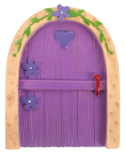 Jones Home and Gift Pink Fairy Door with Purple Heart, Multi-Colour