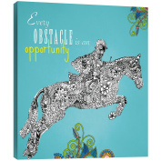 "Tree-Free Greetings 85820 29cm x 29cm ""Obstacle Opportunity"" Themed Vibrant Art EcoArt Home Decor Wall Plaque"