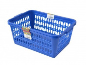 Wham Deep Blue Set of 2 Large Plastic Handy Fruit Vegetable Basket Kitchen Office Storage
