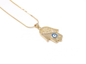 18 K Gold-Plated Necklace With Pendant Fatima Hand Hamsa Eye