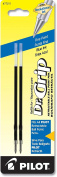 Pilot Dr. Grip Ballpoint Ink Refill, 2-Pack for Retractable Pens, Fine Point, Blue Ink