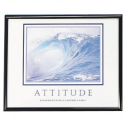 ADVANTUS Framed Motivational Print, Attitude, 80cm x 60cm , Black Frame