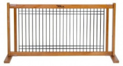 Dynamic Accents Indoor Wood and Wire Large Pet Gate, 50cm Tall - Artisan Bronze