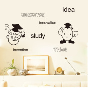 Aiwall 9249 Creative Innovation Idea Wall Decals for Living Room DIY Wall Stickers for Kids Rooms, Nursery, Baby, Boys & Girls Bedroom