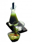 Mepra Stainless Steel Salad Dressing Bottle Tray and Salt Shaker, Silver