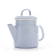 Vintage Home - Small QUALITY Enamelware COFFEE POT - DOVE GREY - 1.2 litre