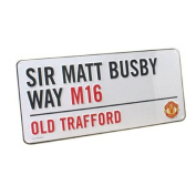 Manchester United Official Street Sign - Multi-Colour, 40 x 18 cm