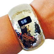 Fitbit Bracelet for Fitbit Charge or Charge HR Fitness Trackers - The BRIANNA INSIGHT Hammered Hinge Bangle Fitbit Bracelet