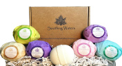 All Natural and Organic Ultra Lush Bath Bombs gift set, USA made. Moisturising essential oils and cocoa butter make for the best spa relaxation experience - a fizzy, non bubble bath. A unique hostess gift.