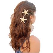 Hairpin,Elevin(TM) New Europe Fashion Women Lady Girls Pretty Natural Starfish Star Beige Hair Clip