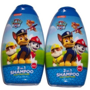 2 Paw Patrol 2 in 1 Shampoo & Conditioner Berry Scented 300ml Bottles