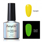 FairyGlo Long Lasting Night Glow Gel Nail Polish Soak Off UV LED Dramatic Manicure Decor Kit Nail Art For Party Carnival Dressing 10ml 6713
