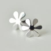 sun flower 6 leaves 925 sterling silver stud earring jewellery luxury women party spring