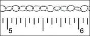 Silver Plated Fine Round Link 0.3m
