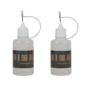 IMISNO DIY Handmade Paper Quilling Precision Tip Glue Applicator Needle Squeeze Bottle - Pack of 2