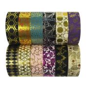 Allydrew Washi Tapes Decorative Masking Tapes, Set of 12, ADSET56