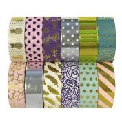 Allydrew Washi Tapes Decorative Masking Tapes, Set of 12, ADSET61