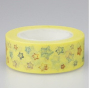 Colourful Stars Japanese Paper Washi Tape Packing Gift Tape Easily Tear Off By Hand Office Adhesive Tape