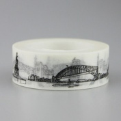 Pack New Sketched Paris Eiffel Tower Japanese Washi Tape Office Adhesive Tape Adesivo 15mm*10m
