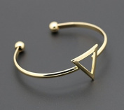 mywaxberry golden plated dress accessory tiara ring triangle open bracelet