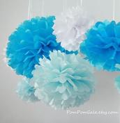 Sorive® 5pcs 2 Sizes Tissue Paper Flowers,Tissue Paper Pom Poms,Wedding Party Decor,Pom Pom Flowers,Tissue Paper Flowers Kit,Pom Poms Craft,Wedding Pom Poms-Sorive